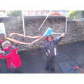 Whole school kite flying