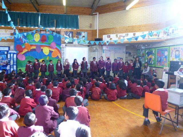 Pupil led assembly