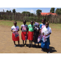 The children were pleased to receive hygiene items