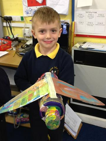 An aeroplane made of different shapes!