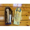 A sarcophagus with mummy inside!