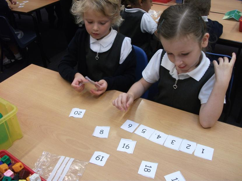 Working together to order numbers