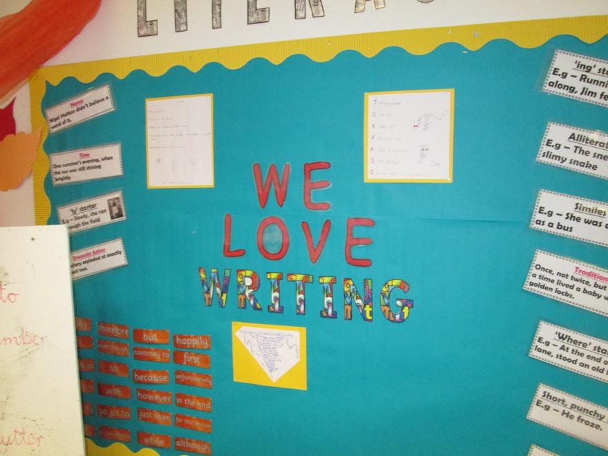 We love to show off our literacy learning