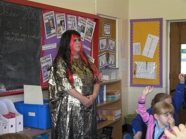 The children had lots of questions to ask
