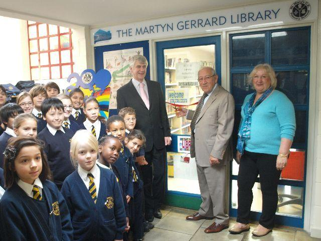 The Martyn Gerrard Library... Being opened by Martyn Gerrard!