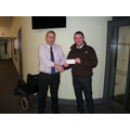 Dave receives the cheque for £607
