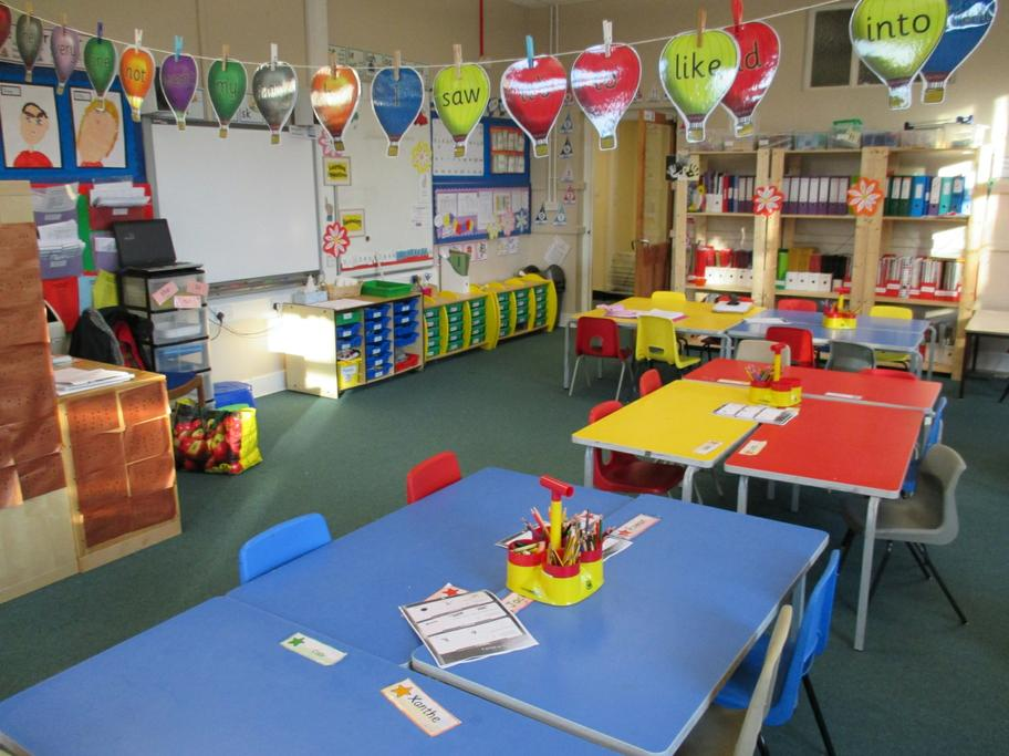 Our classroom is always bright and colourful.