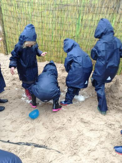 Waterproofs on... all protected!