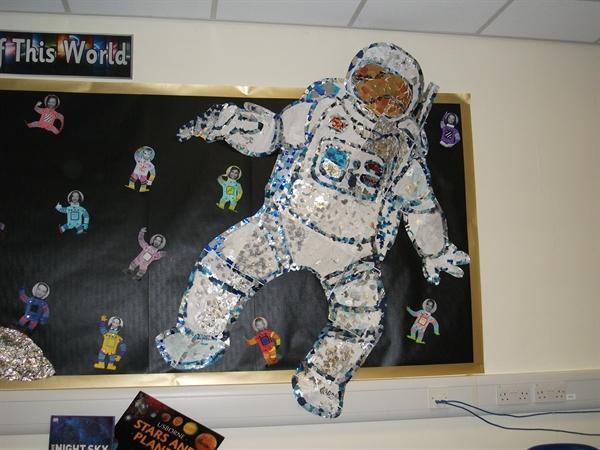 Mrs Appleton's space man display