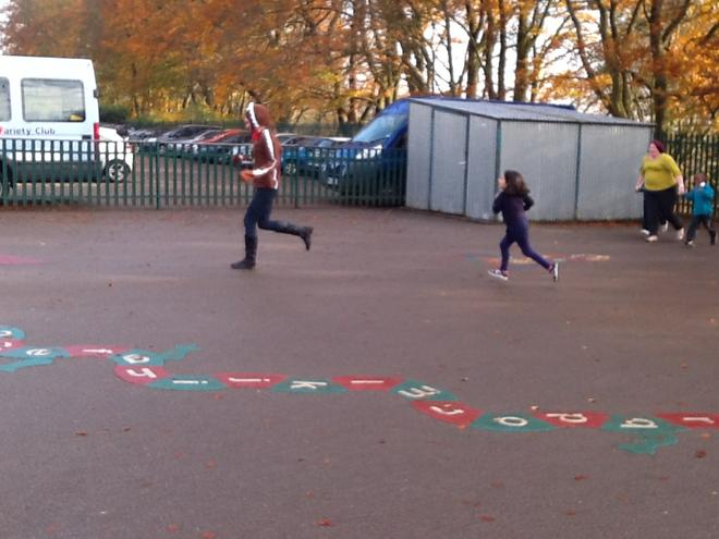 Chasing the gingerbread man