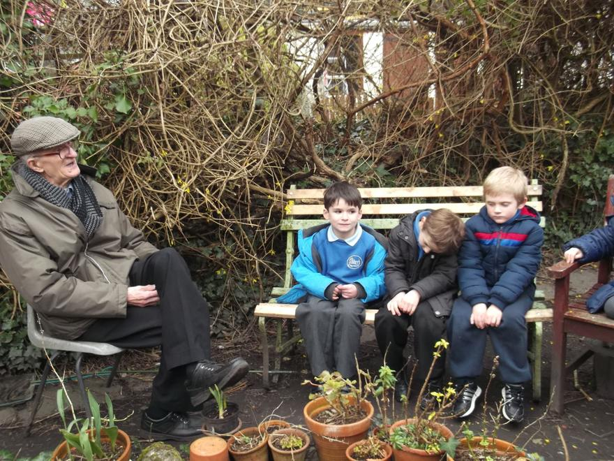 We are looking out for mini beasts in the pond.