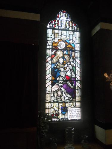 Each stain glass window told a story.