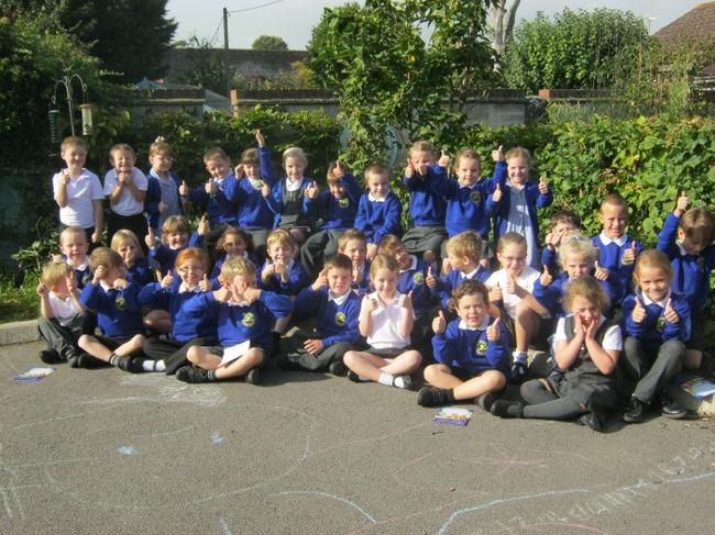 Our lovely class in the sun!