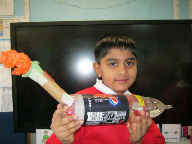 We designed objects made with recycled materials