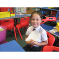 Autumn - making a hedgehog using paper straws.