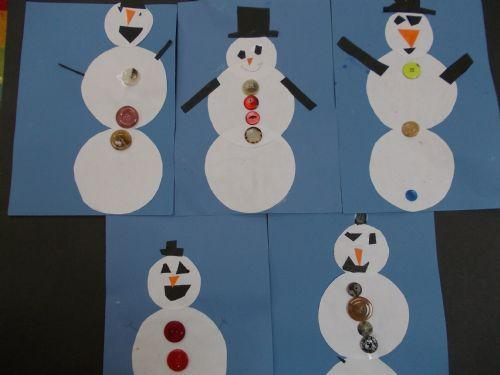 They also made some snowmen pictures