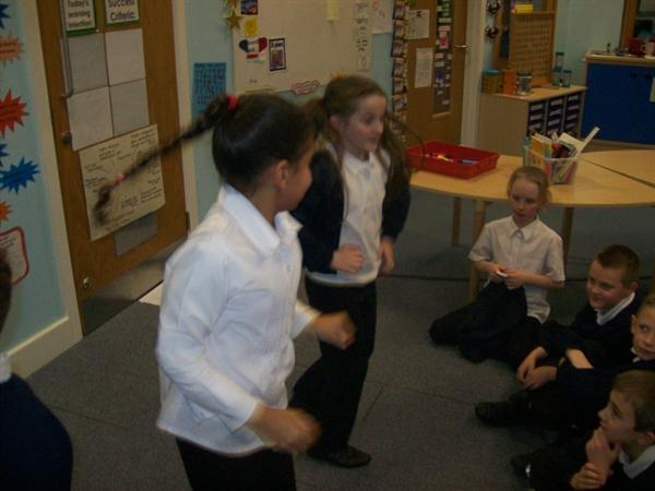The dancing girls!