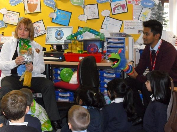 The Hamster Expert visited class 4