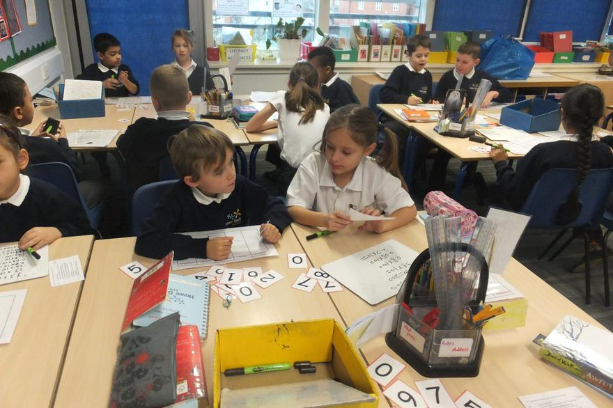 Number challenges in Y4 with a talk partner