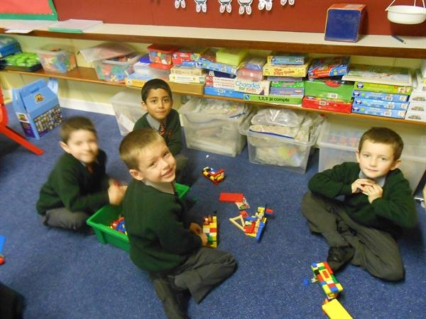 Building with construction toys