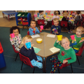 We loved snack-time. Hot choc and cookies! Yummy!