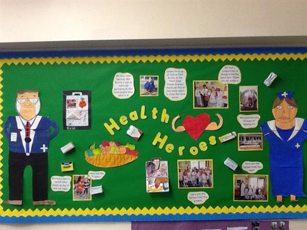 Year 2 learning how to stay healthy