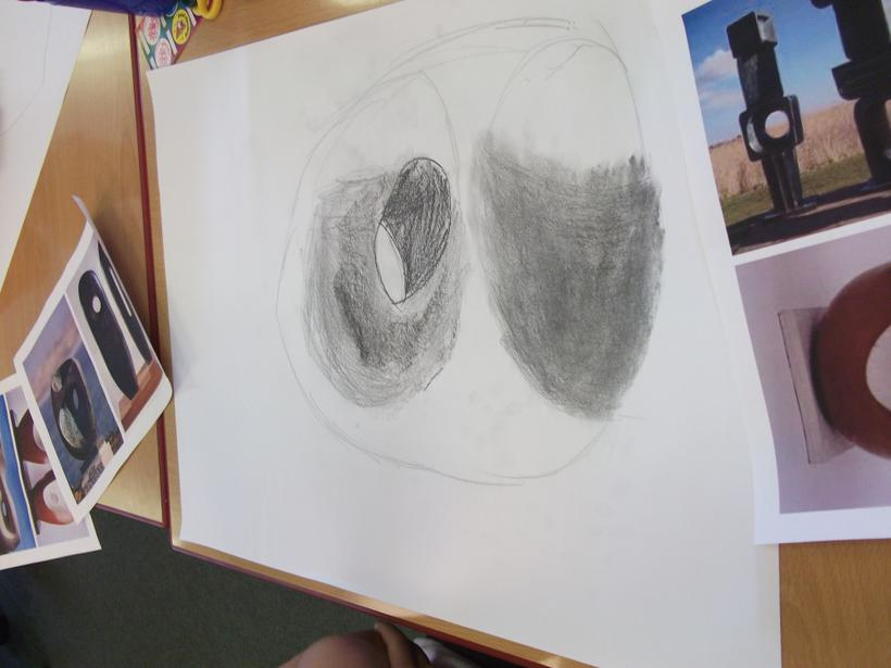 We used different grades of pencil, 2B, 6B and H