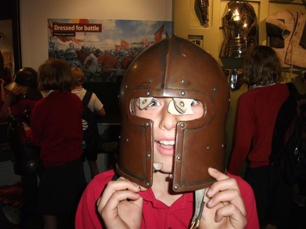 Jake wearing armour
