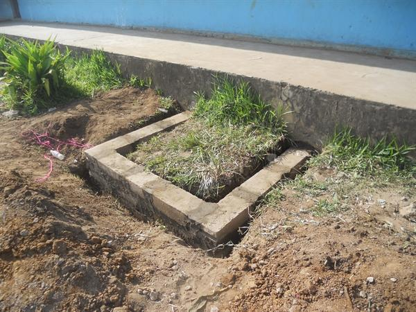The base for the water tank.