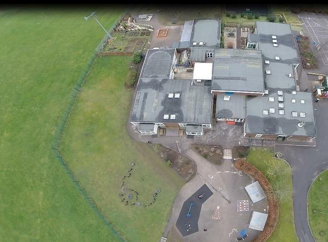 Aerial view, KS1 playground