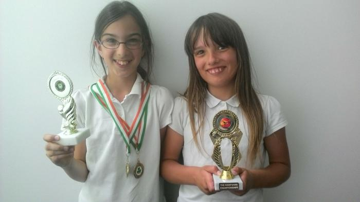 Katrina and Courtney - Dancing awards and medals!