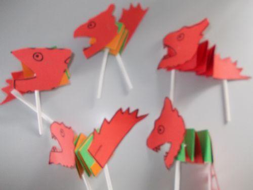 Year 2 folded Dragons