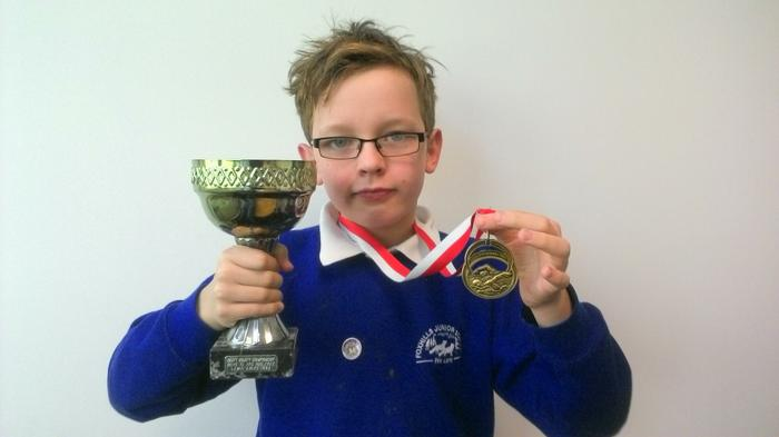 Dylan - 100m freestyle Age 10 WINNER!