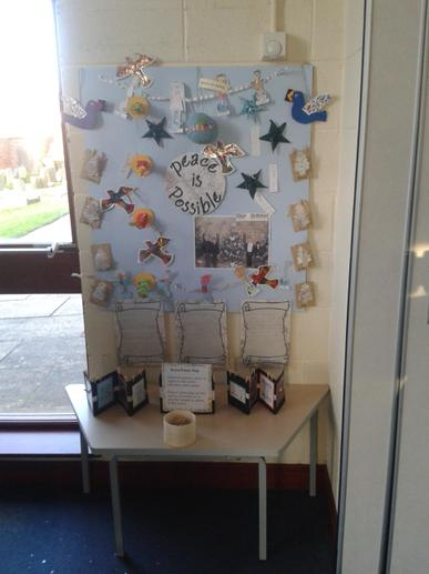 We shared our reflective peace display