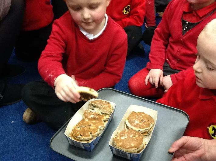 We all tried the Welshcakes.