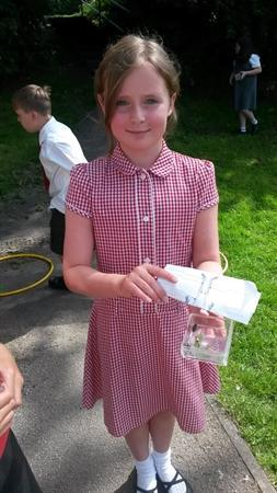 Hunting for woodlice for our science investigation