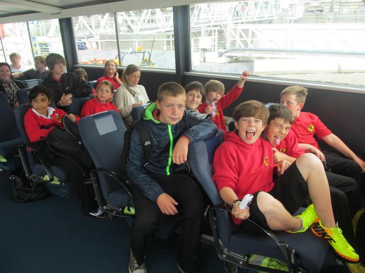 Cruising down the Thames