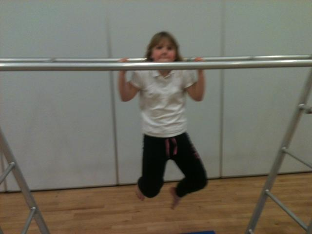 Great arm strength from Abigail!