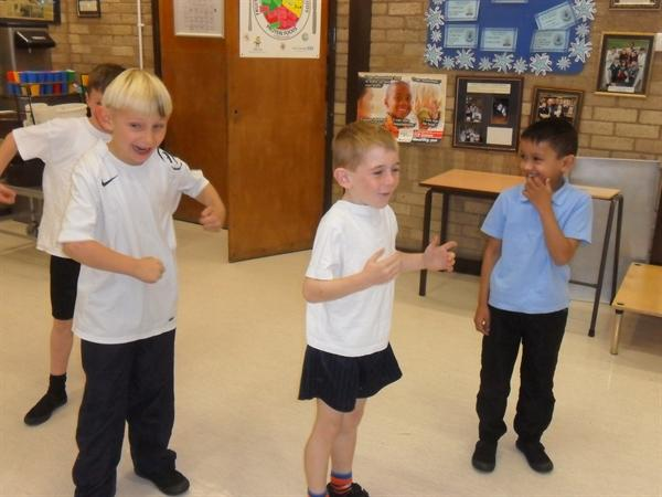 'Wild Thing' role play in PE