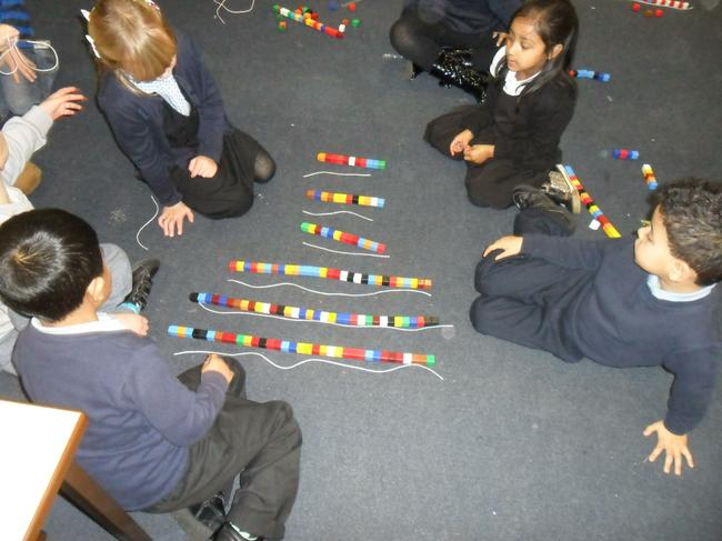 We measured string using unifix.