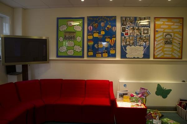 Our school reception area