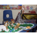 During science week we made an exploding volcano