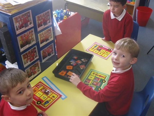 We played lots of maths games together.