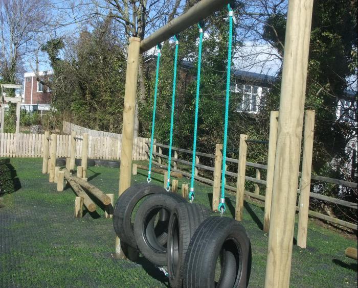 Outdoor adventure trail for older children