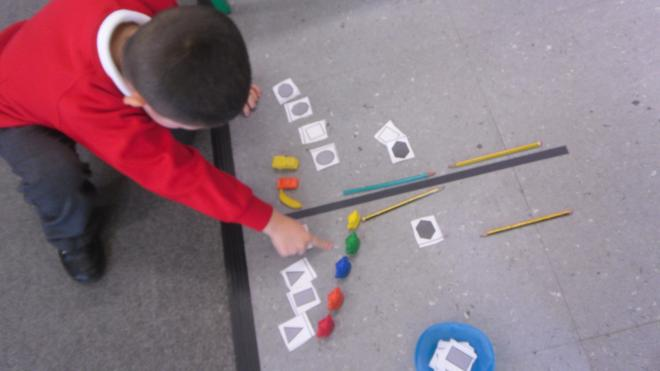 Using objects and shapes to help...