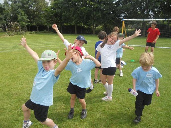 Fun together on our whole school PE afternoon