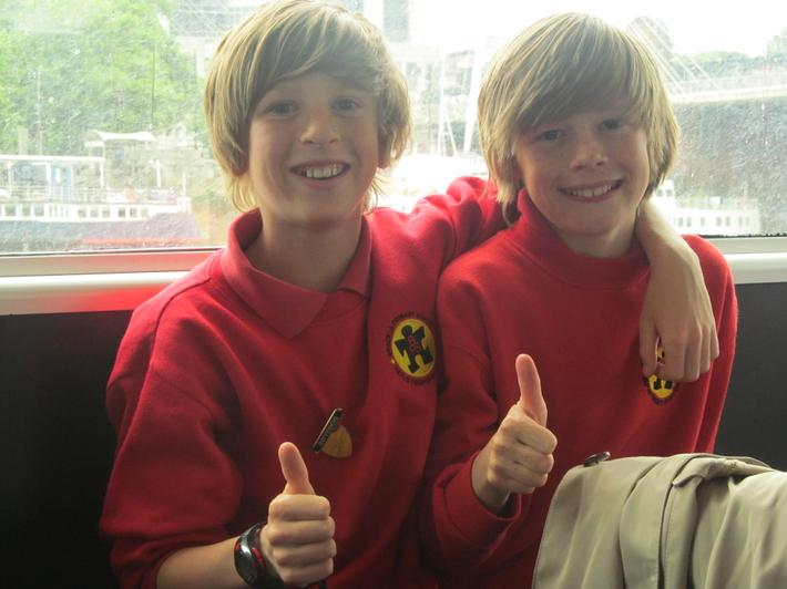 a thumbs up from the boys!