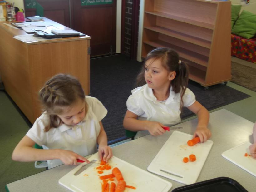 The carrots were challenging!