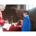 Learning about Tudors at All Hallows