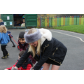 Rizwaan enjoyed helping children on the bikes